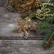 Golden Christmas decorations — Stock Photo #14101437