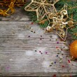 Golden Christmas decorations — Stock Photo #14101449