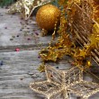 Golden Christmas decorations -  