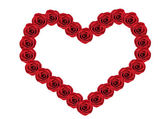Red roses Heart shape — Stock Photo