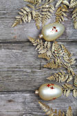 Golden twig and balls — Stock Photo