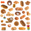 Cookies and rolls, collage — Stock Photo