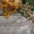 Golden Christmas decorations — Stock Photo #14629887