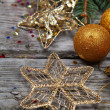Golden Christmas decorations - Stockfoto