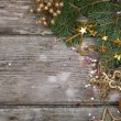Golden Christmas decorations  — Foto de Stock