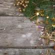 Golden Christmas decorations — Stock Photo