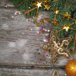Golden Christmas decorations — Stock Photo #14629945