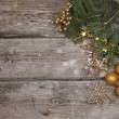 Golden Christmas decorations — Stok fotoğraf #15639573