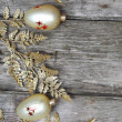 Golden twig and balls — Foto Stock