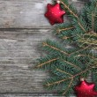 Stock Photo: Red Christmas decorations