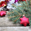Red Christmas decorations - Foto Stock