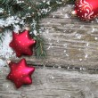 Red Christmas decorations — Stock fotografie
