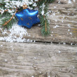 Blue Christmas decorations — Stockfoto #15873395