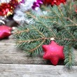 Red Christmas decorations — Stockfoto #15873399