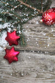 Red Christmas decorations — Photo
