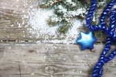 Blue Christmas decorations — Stok fotoğraf