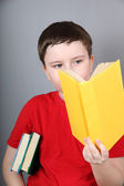 Boy with book s — Stock Photo