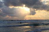 Moře při západu slunce — Stock fotografie