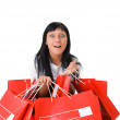 Attractive girl, happy after shopping — Stock Photo #2326801