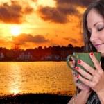 Woman Drinking Coffee — Stock Photo #10228472