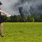 Woman Holding Umbrella — Stock Photo #12247506