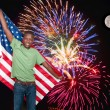 Man at Fireworks — Stock Photo #12505655