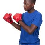 Black Teenage Boxer — Stock Photo #12508016
