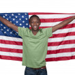 Stock Photo: Man with Flag