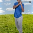 Black Teenage Golfer — Stock Photo