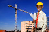 Black Teenage Construction Worker — Stock Photo