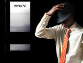 Black Teenage Man in Fedora — Stock Photo