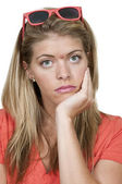 Woman with Acne — Stock Photo