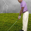 Man Golfer — Stock Photo