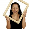 Woman in a Frame — Stock Photo #13507720