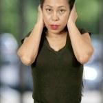 Woman in shock — Stock Photo