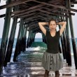 Woma Under Fishing Pier — Stock Photo #13507786