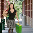 Hispanic Woman with Shopping Bags — Stock Photo