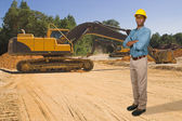 Black Man Construction Worker — Stock Photo