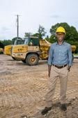 Siyah inşaat işçisi — Stok fotoğraf