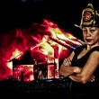 Foto de Stock  : Firefighter