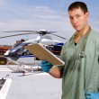 Doctor and Life Flight Helecopter — Stock Photo #16242689