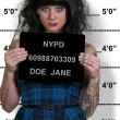 Woman Mugshot — Stock Photo