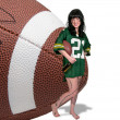 Woman Playing Football — Stock Photo #16245943