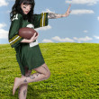 Woman Playing Football — Stock Photo #16246297