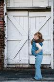 Girl in Winter Coat — Stock Photo