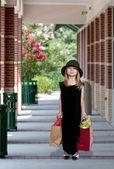 Girl Shopping Bags — Stock Photo