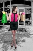 Sacos de compras de mulher — Foto Stock