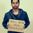 Will Work for Healthcare - Stok fotoğraf