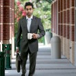 Man with Brief Case and Coffee — Stockfoto