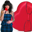 Valentines Day Heart Woman — Stock Photo #18253399